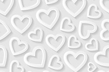 Set of seamless patterns with hearts
