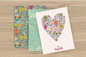 Enjoy life cards, travel pattern