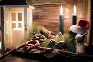 romantic candlelight Christmas