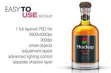 Whisky / Rum / Brandy Mockup Vol. 1