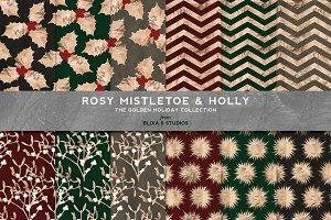 Mistletoe & Holly Christmas Gold