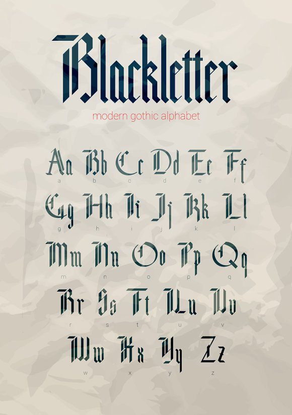Blackletter Modern Gothic Font Fonts Creative Market