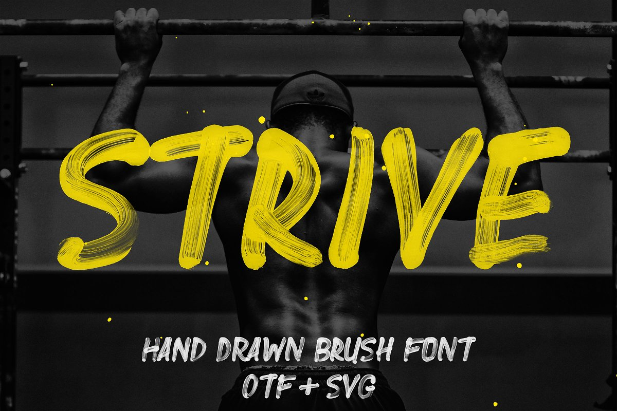Strive - Hand Painted SVG Font