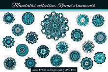 Mandalas collection. Round-1