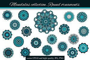 Mandalas collection. Round-1
