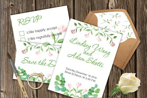 Eco Wedding Invitations Template