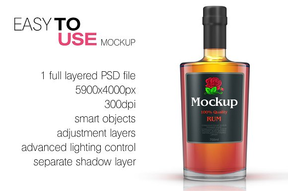 Download Whisky / Rum / Brandy Mockup Vol. 2