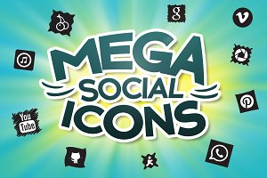 (SALE) 1640 Mega Social Icons