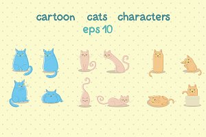 Cartoon cat characters