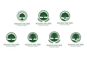 Green Oak Tree Logo vol 2