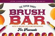 The Brush Bar | 60 Procreate Brushes