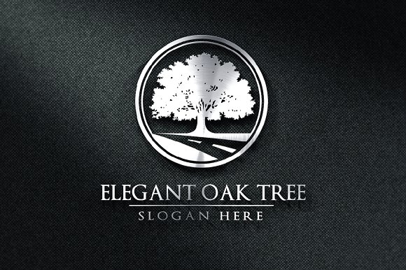 Green Oak Tree Logo Vol 2 Templates Creative Market