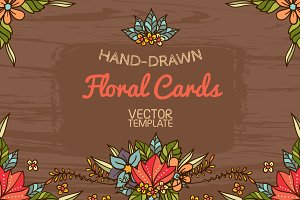 Floral cards templates