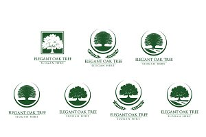Green oak tree logo vol 3