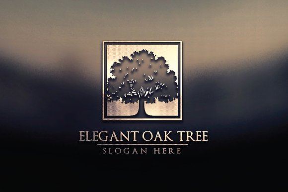 Green oak tree logo vol 3 in Logo Templates - product preview 1
