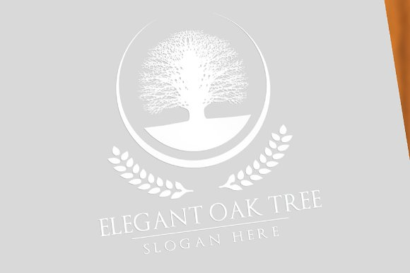 Green oak tree logo vol 3 in Logo Templates - product preview 2