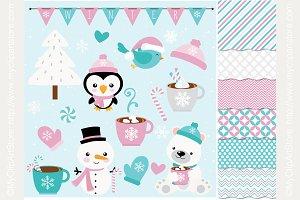 35% OFF Frosty Friends Design Bundle