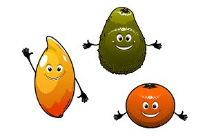 Avocado, mango and orange
