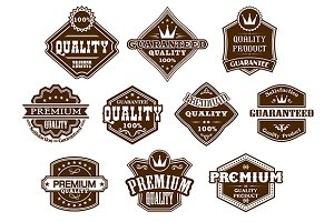 Labels and banners in western style
