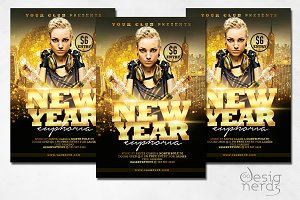 New Year Euphoria Flyer