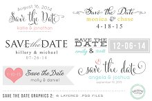 Save the Date Overlays Layered .psd