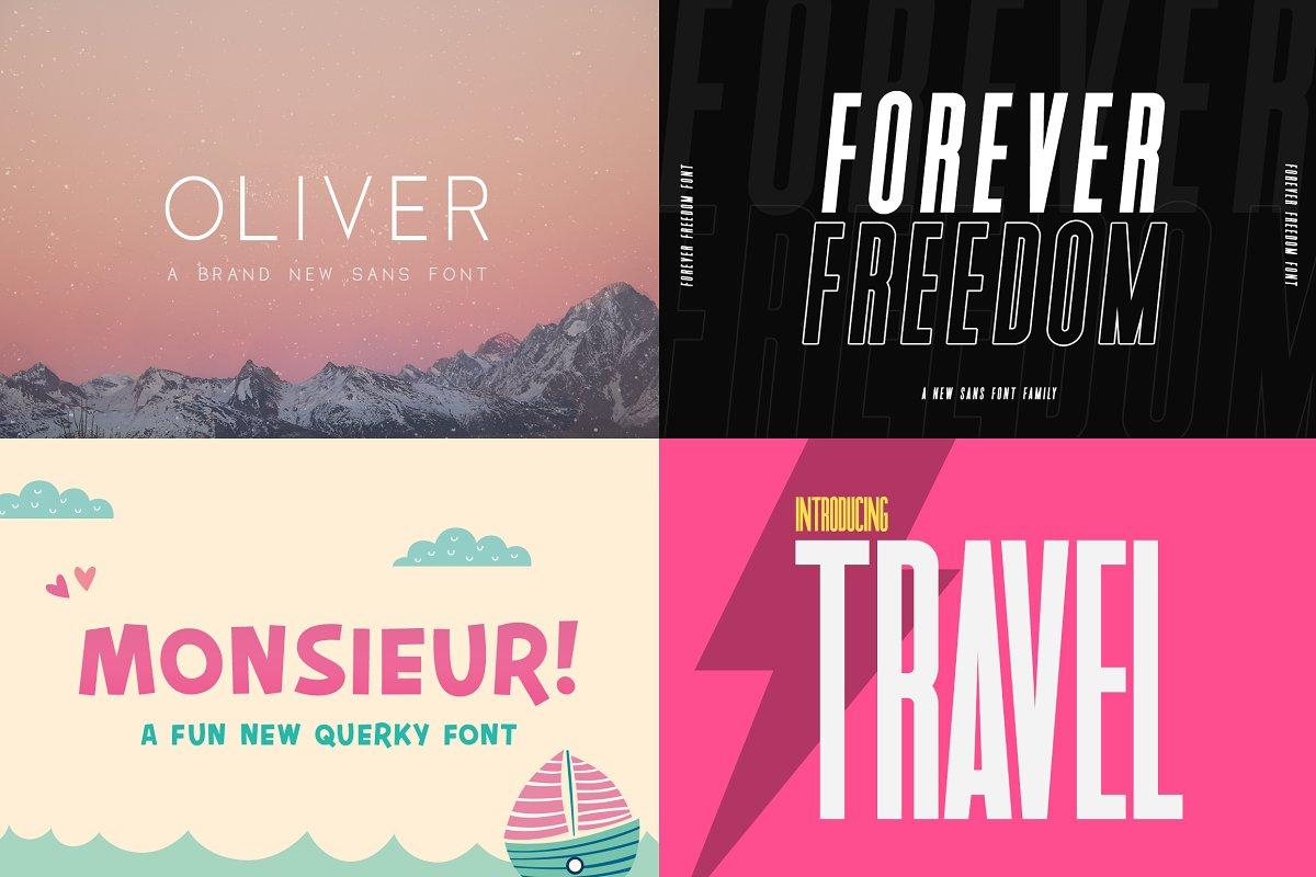 The HUGE Font Bundle (150+ Fonts) in Sans-Serif Fonts - product preview 21