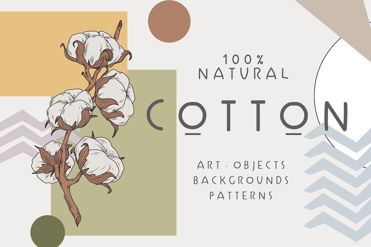 Cotton Set / Hand drawn
