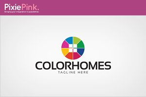 Color Homes Logo Template