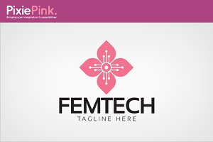 Fem Tech Logo Template