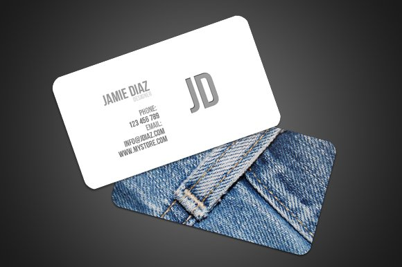 Jeans style card business card templates creative market reheart Image collections