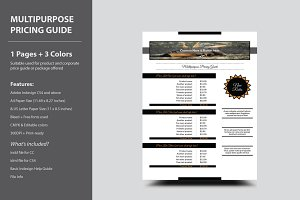 Multipurpose Pricing Guide Template