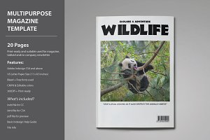Wildlife Magazine Template