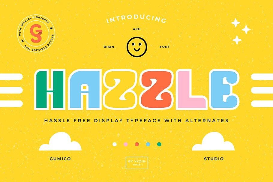 HAZZLE Typeface + BONUS