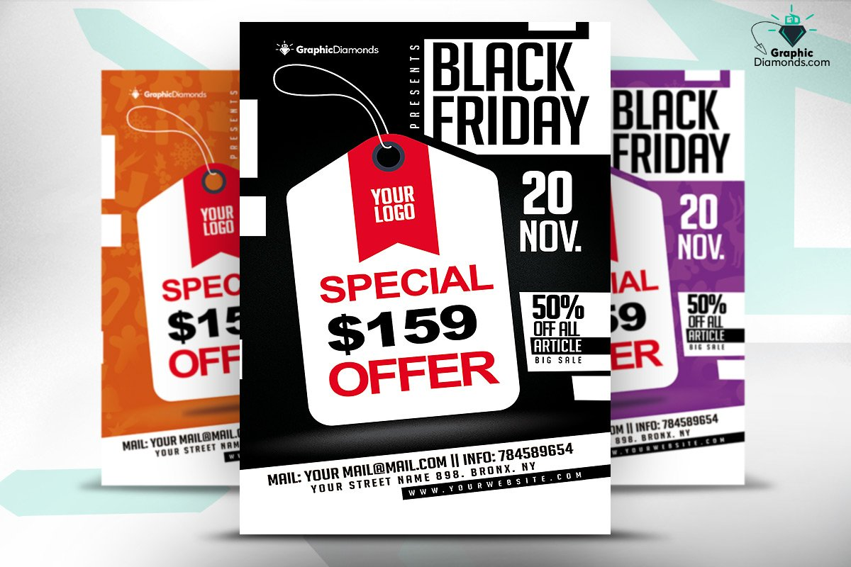 black friday flyer photos graphics fonts themes templates black friday offer flyer psd