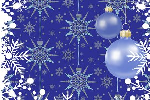 Christmas card, blue