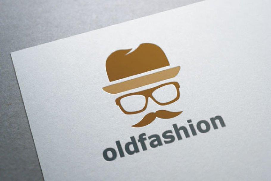 a4da0f49974 Old Fashion Mustache Man Logo ~ Logo Templates ~ Creative Market