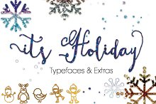 ItsHoliday Font,Fun Calligraphy Font