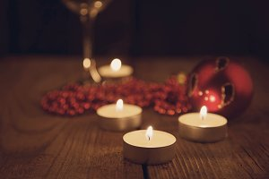 candles, Christmas decorations