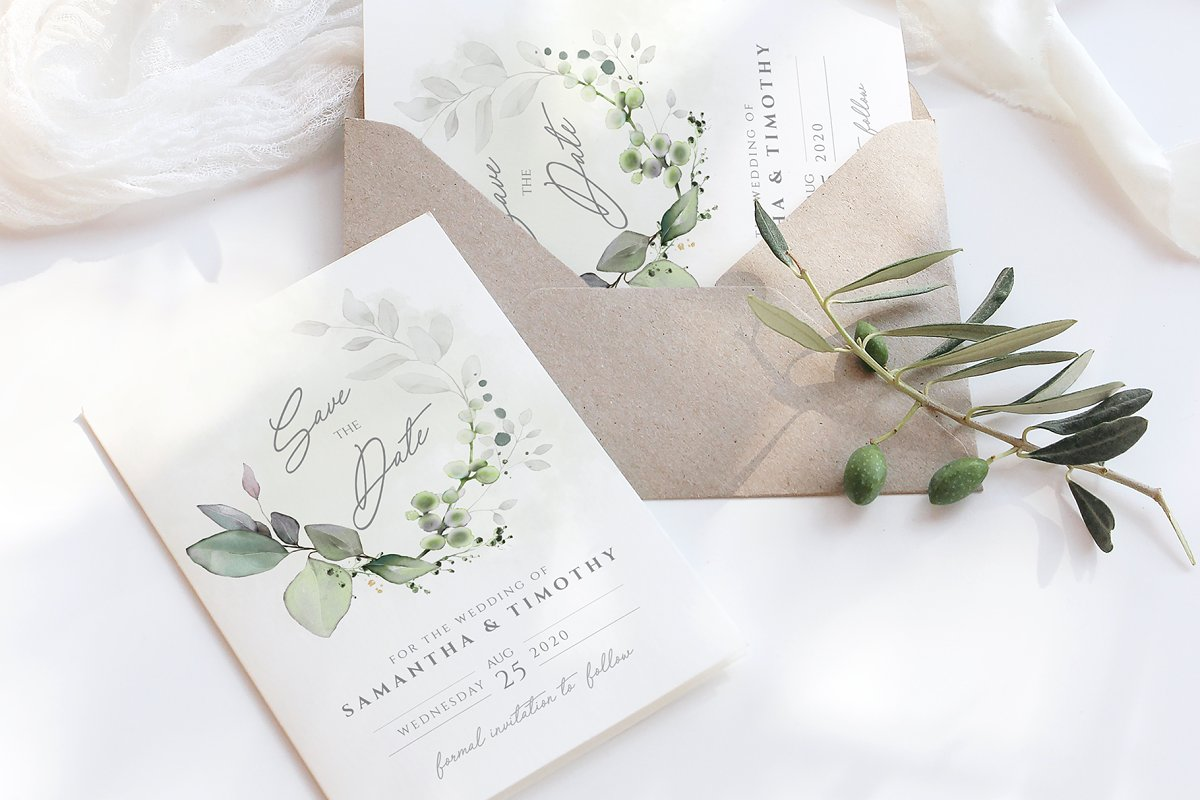 Foliage Save The Date Card