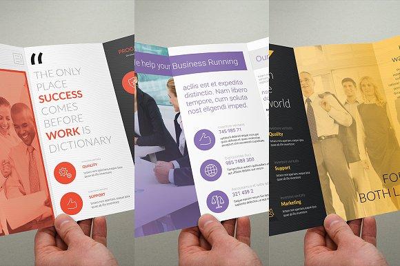 bundle 3 trifold business brochure brochure templates creative