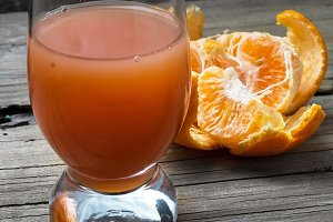 fresh juice of tropical citrus fruit