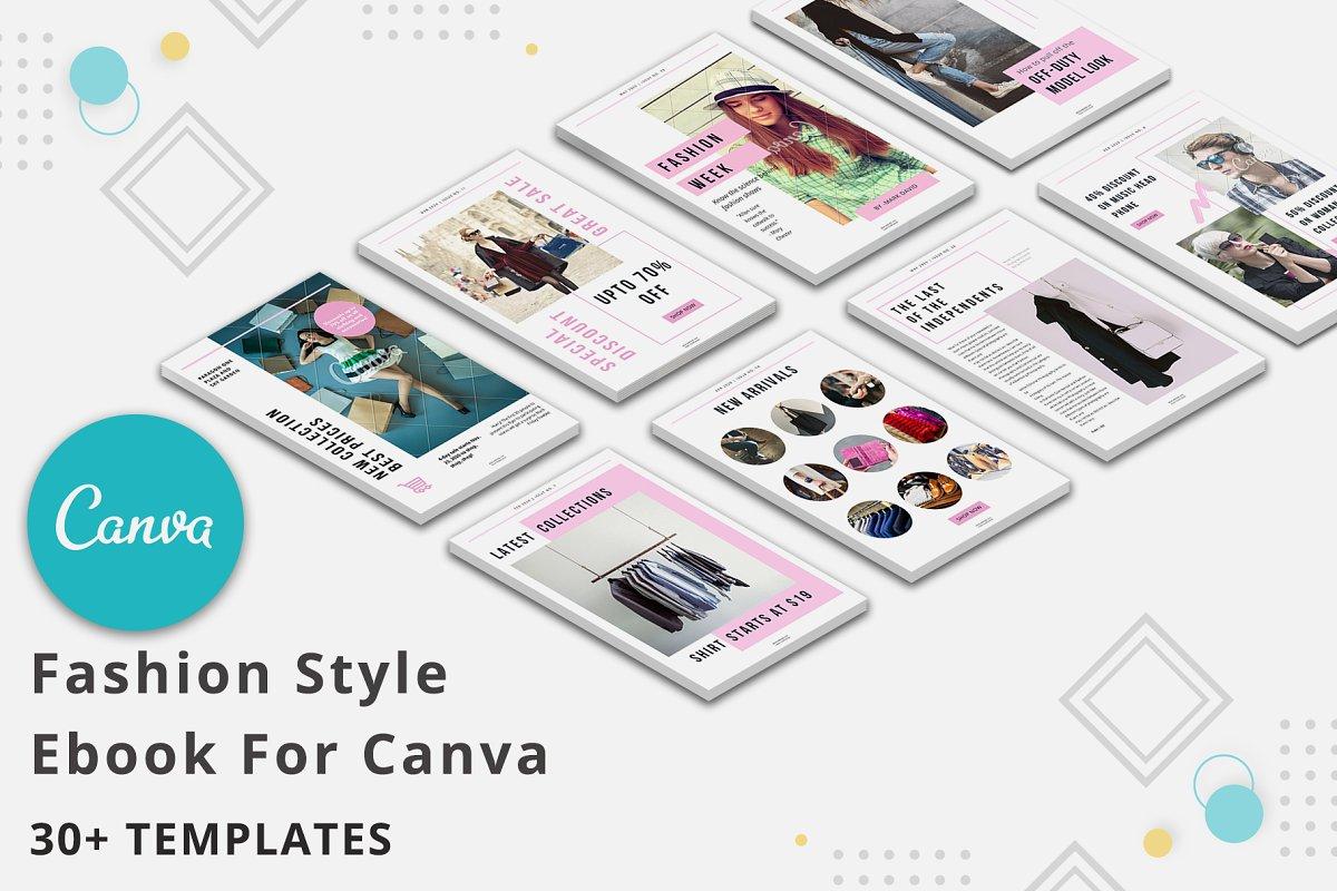 Fashion Style Ebook Canva Templates