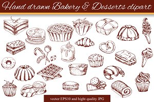 Hand drawn Bakery clipart