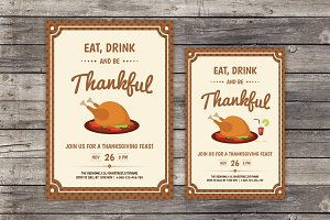 Thanksgiving Day Invitaion Flyer