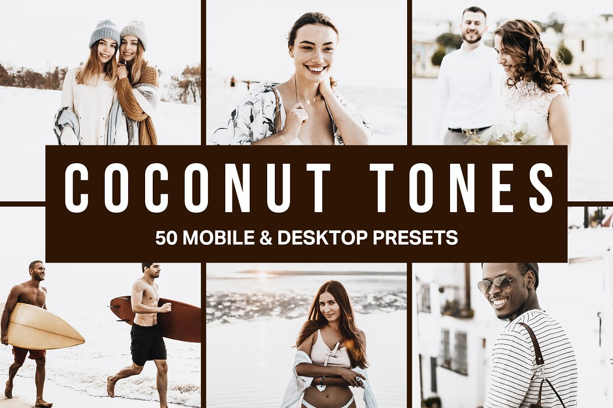 50 Coconut Tones Lightroom Presets