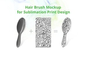 Hair Brush Sublimation Mock-up