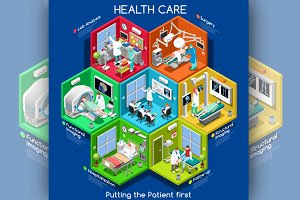 Healthcare Cells Isometric
