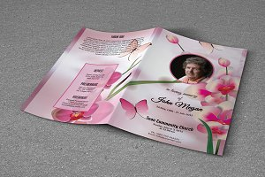Funeral Program Template-T244
