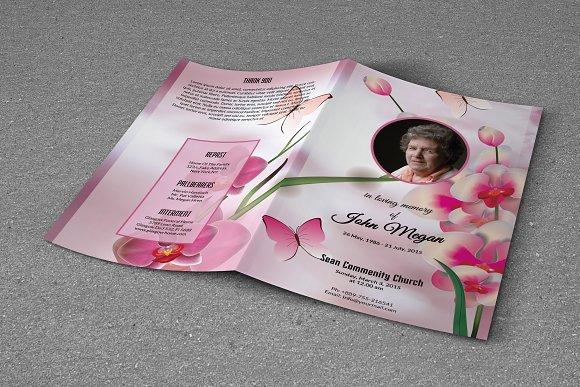 Funeral Program Template-T244