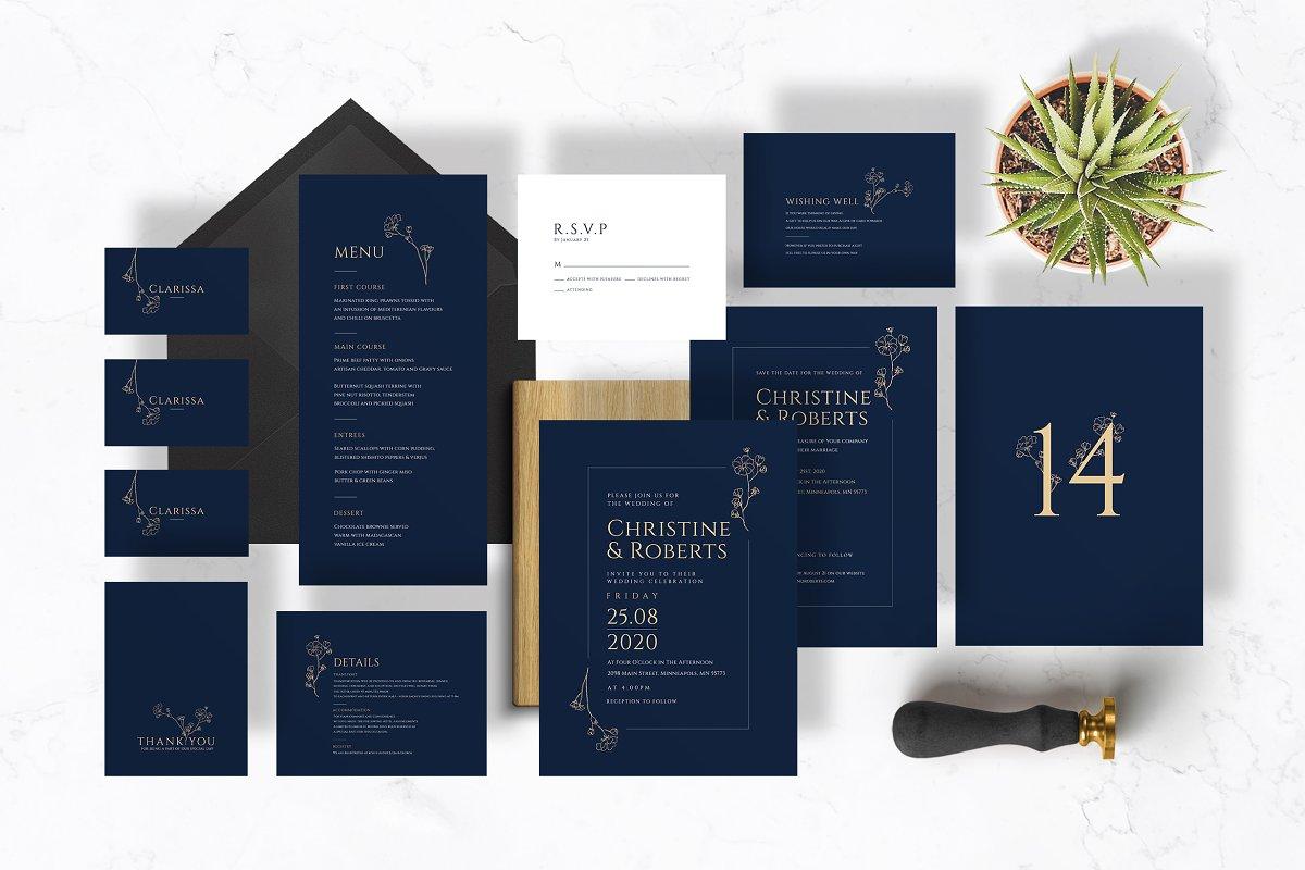 Navy Elegant Wedding Suite